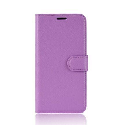 Litchi Oldalra Kihajtható FLIP Tok Elephone A5 A5 Lite Készülékre - Mályva