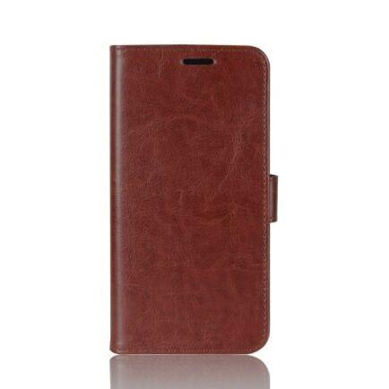 Oldalra Kihajtható FLIP Tok Elephone A5 A5 Lite Készülékre - Barna