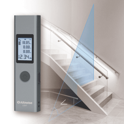 Alfawise LS - 1 Mini Lézeres Távolságmérő - Multifunkcionális Verzió