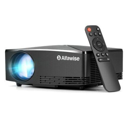 EU ECO Raktár - Alfawise A80 2800 Lumens BD1280 Android Okos Projektor - Fekete