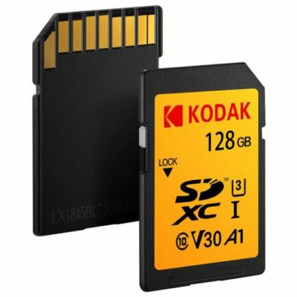 KODAK U1 Class 10 Nagysebességű SD Memóriakártya - 128 GB