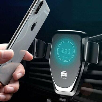 Gocomma 10W QI Vezetéknélküli Autós Gyorstöltő - Fekete 2db