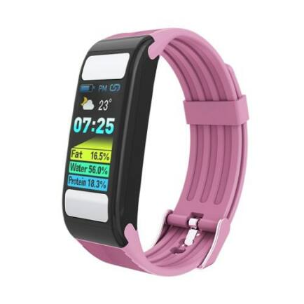 Alfawise T9 Fitnessz Sport Aktivitást Mérő Okosóra - Rózsaszín