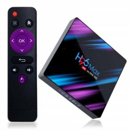 EU ECO Raktár - H96 Max 3318 TV Box Android 9.0 - 4GB RAM+32GB ROM