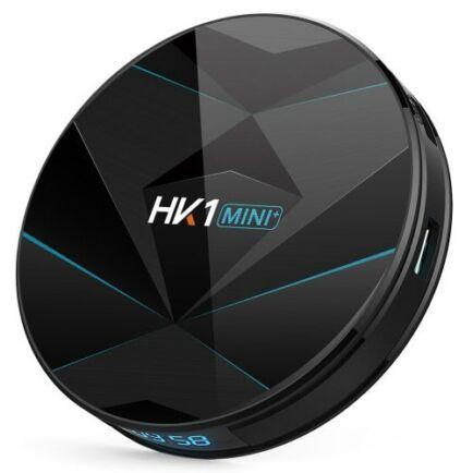 EU ECO Raktár - HK1 Mini+ TV Box Android 9.0 Rockchip3318 /2.4G+5G WIFI/ BT4.0/  4GB RAM +  64GB ROM