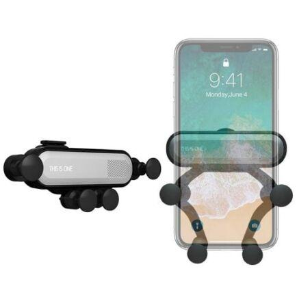 360-Fokban forgaható Autós Mobiltelefon Tartó - Ezüst