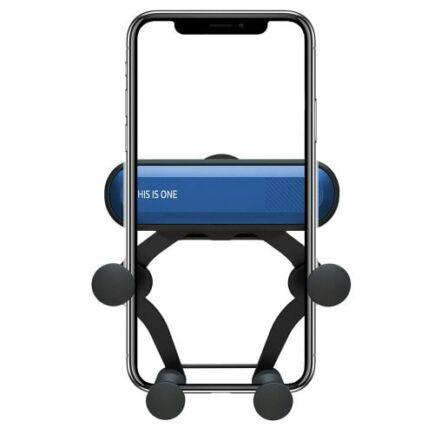 360-Fokban forgaható Autós Mobiltelefon Tartó - Kék