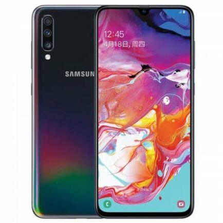 EU ECO Raktár - SAMSUNG Galaxy A70 4G okostelefon - 6GB 128GB - Fekete