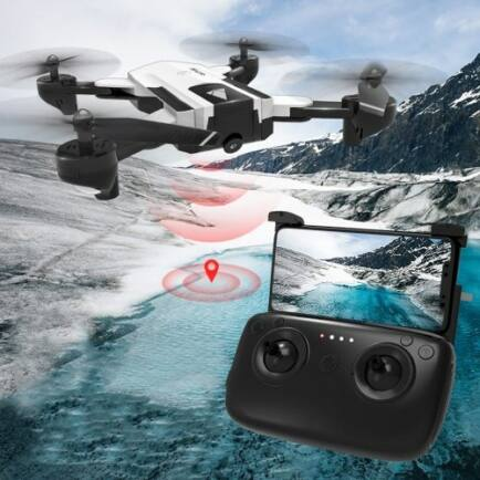 EU ECO Raktár - SG900 - S WiFi FPV HD Kamerás Drón - Fehér - 720P (1100mah)