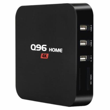 Q96 HOME Smart TV Box - 1GB RAM + 8GB EMMC RAM - Fekete