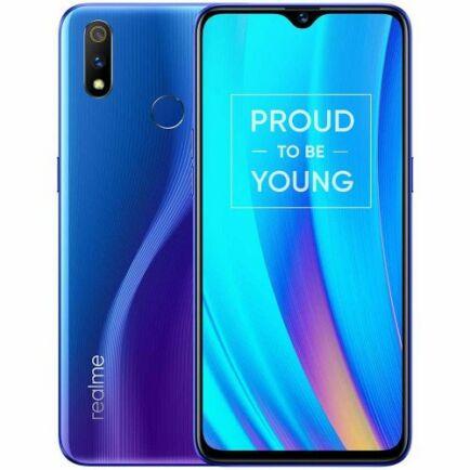 EU ECO Raktár - Realme 3 Pro 4G okostelefon - 4GB 64GB - Óceán kék