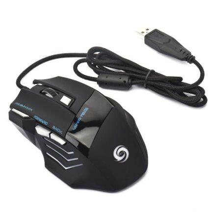 Glowing Asztali USB Vezetékes Gamer Egér - Fekete