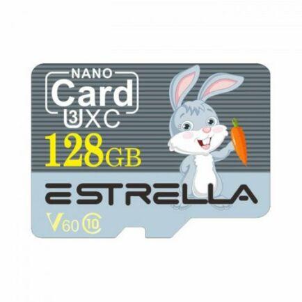 ESTRELLA Cute Cartoon Animal Nagysebességű Micro SD Class 10 Memóriakártya - 128GB