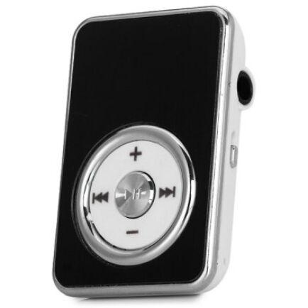 Extra mini MP3 lejtászó SD kártyahellyel és övcsipesszel - Fekete