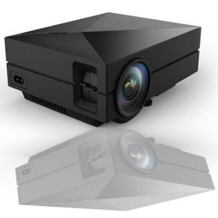 EU ECO Raktár - GM60 Hordozható LCD 1000Lm 800x480 1080P mini projektor EU csatlakozó - Fekete