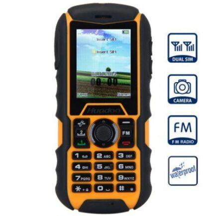 EU ECO Raktár - Huadoo H1 2.0 IPS MTK6261A Nucleus OS strapabíró mobiltelefon - Sárga