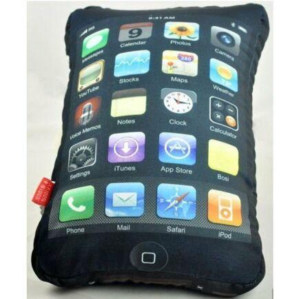 Kispárna Iphone rajongóknak 30 x 20 cm-es - Fekete