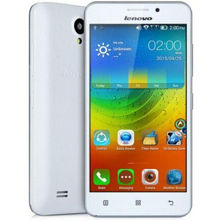 "Lenovo A3600D 4.5"" FWVGA Android 4.4 MTK6582 3G Okostelefon - Fehér"