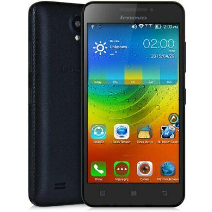 "Lenovo A3600D 4.5"" FWVGA Android 4.4 MTK6582 3G Okostelefon - Fekete"