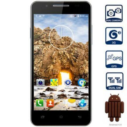 "EU ECO Raktár - Mpie MP158+ 5.0"" qHD Android 4.4 MTK6582 3G Okostelefon - Fekete"
