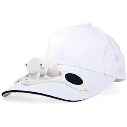 Napelemes Baseball sapka ventilátorral - Fehér