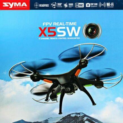 EU ECO Raktár - Syma X5SW Explorers 2 FPV képes, 2.4G 6 tengelyes 4 csatornás 0.3MP Drón - Fekete