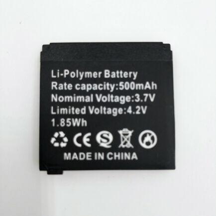 RsFow Smart Watch Q18 500mAh okosóra akkumulátor - Fekete