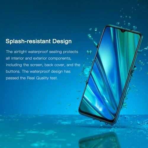 EU ECO Raktár -  OPPO Realme 5 Pro 6.3inch 4035mAh 48MP 16MP 4G Okostelefon - Kék