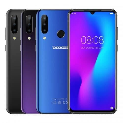 EU ECO Raktár - DOOGEE N20 4G Okostelefon Fingerprint 6.3inch FHD Display 16MP 64GB 4GB MT6763 Octa Core - Kék