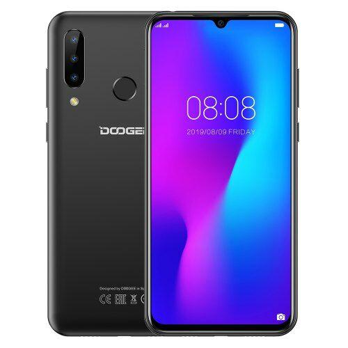 EU ECO Raktár - DOOGEE N20 4G Okostelefon Fingerprint 6.3inch FHD Display 16MP 64GB 4GB MT6763 Octa Core - Fekete