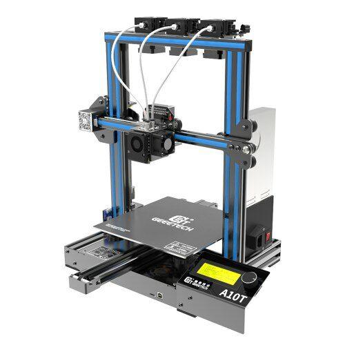 EU ECO Raktár - Geeetech A10T 3D Nyomtató 3 in 1 out Mixed Property GT2560 V4.0 220x220x250mm Nyomtatási Felülettel - Kék