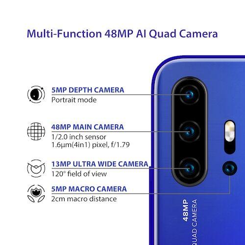 EU ECO Raktár - UMIDIGI F2 6.53 inch FHD + Android 10 32MP Selfie Helio P70 48MP AI Quad Camera Okostelefon - Fekete