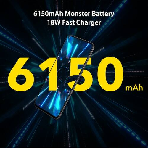 EU ECO Raktár - UMIDIGI Power 3 6.53 inch FHD+ 4GB HelioP60 64GB ROM Quad Kamera Android 10 - Szürke
