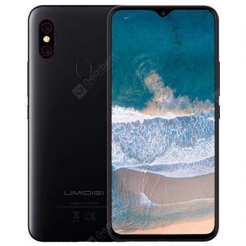 EU ECO Raktár - UMIDIGI F1 4G okostelefon 6.3 inch Android 9.0 Helio P60 Octa Core 2.0GHz 4GB RAM 128GB ROM 16.0MP - Fekete