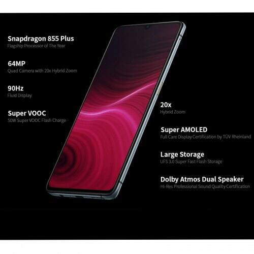 EU ECO Raktár - OPPO Realme X2 Pro 4G Okostelefon Globális Verzió 6.5 inch FHD Android 9.0 Snapdragon 855 Plus - Fehér