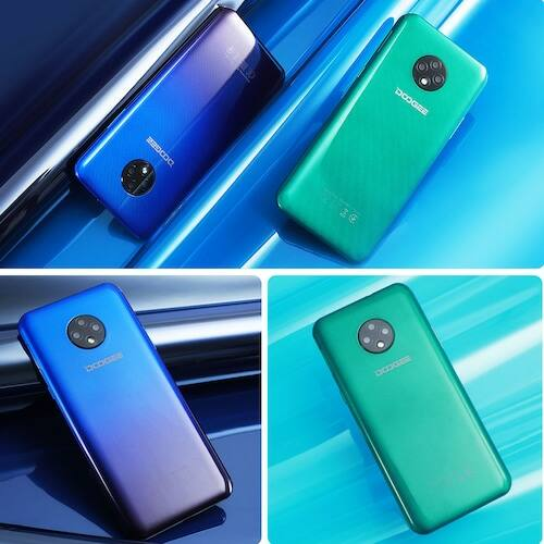 EU ECO Raktár - DOOGEE X95 Android 10 4G-LTE Okostelefon 2GB RAM 16GB ROM 6.52 Display MTK6737 - Fekete