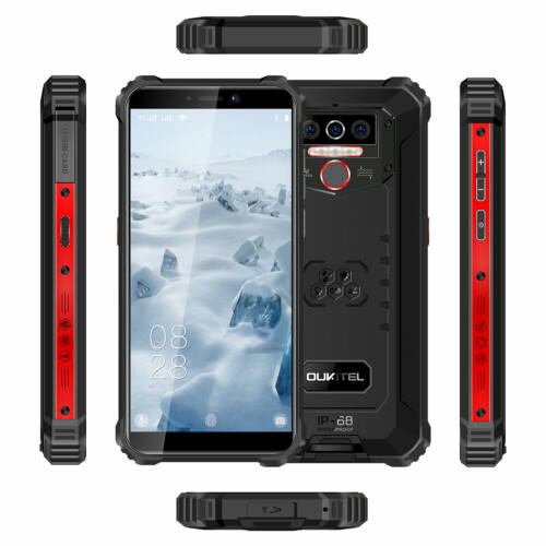 EU ECO Raktár - OUKITEL WP5 Globális verzió 5.5 inch IP68 Vízálló 8000mAh Android 10 13MP 4GB RAM 32GB ROM MT6761 4G Okostelefon - Narancs