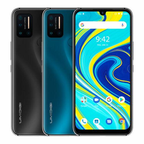 EU ECO Raktár - UMIDIGI A7 Pro 6.3 inch FHD+ Android 10 4150mAh 16MP AI Quad Camera 3 Card-slot 4GB RAM 64GB ROM Helio P23 4G Okostelefon - Kék