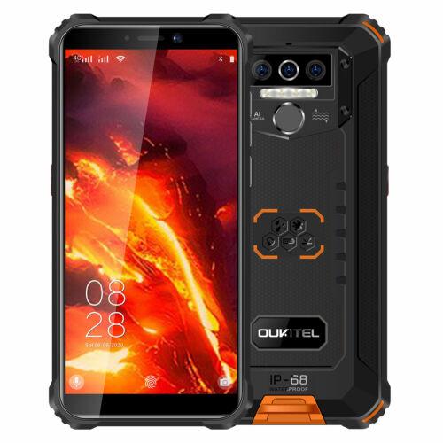 EU ECO Raktár - OUKITEL WP5 Pro 5.5 inch IP68/IP69K Vízálló 8000mAh Android 10 13MP 4GB RAM 64GB ROM MT6762D 4G Okostelefon - Narancs