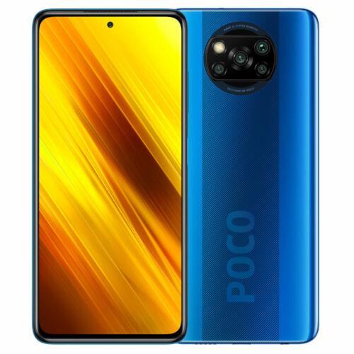 EU ECO Raktár - POCO X3 NFC Globális verzió Snapdragon 732G 6GB RAM 64GB ROM 6.67 inch 120Hz 64MP Quad Camera 5160mAh Octa Core 4G Okostelefon - Kék