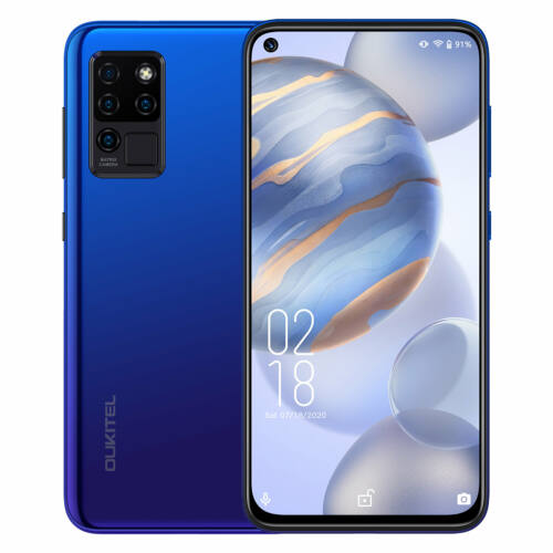 EU ECO Raktár - OUKITEL C21 6.4 inch FHD+  4000mAh Android 10 20MP Front Camera 4GB RAM 64GB ROM Helio P60 4G Okostelefon - Fekete