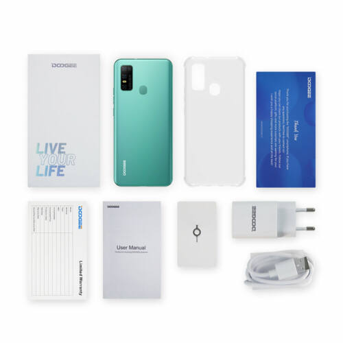 EU ECO Raktár - DOOGEE N30 4GB RAM 128GB ROM Helio A25 Android 10 6.55 inch 16MP AI Quad előlapi 4G Okostelefon - Fekete