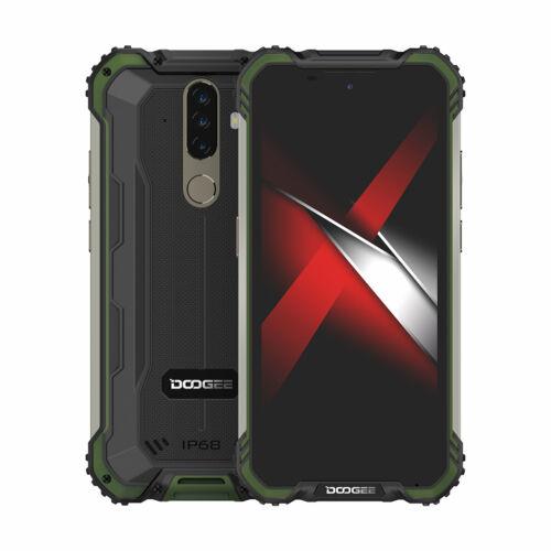 EU ECO Raktár - DOOGEE S58 Pro Globális verzió 5.71 inch IP68/IP69K Vízálló NFC 5180mAh Android 10 16MP AI Triple 6GB RAM 64GB ROM Helio P22 4G OKostelefon - Fekete