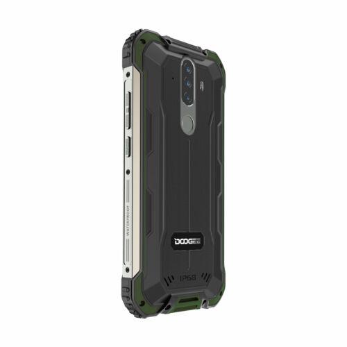EU ECO Raktár - DOOGEE S58 Pro Globális verzió 5.71 inch IP68/IP69K Vízálló NFC 5180mAh Android 10 16MP AI Triple 6GB RAM 64GB ROM Helio P22 4G OKostelefon - Zöld