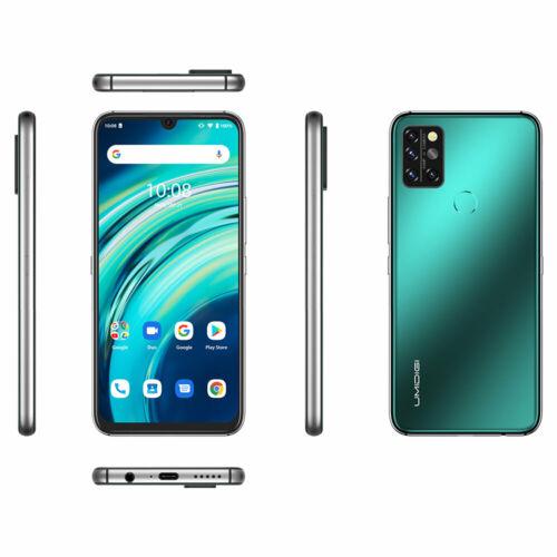 EU ECO Raktár - UMIDIGI A9 Pro 6.3 inch FHD+ 6GB RAM 128GB ROM Helio P60 Android 10 4150mAh 48MP AI Matrix Quad Camera 4G Okostelefon - Fekete