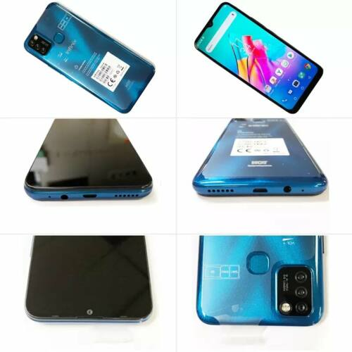 EU ECO Raktár - Infinix Hot 10 Lite 13MP Triple Kamera 2GB RAM 32GB ROM 6.6 inch 5000mAh Helio A20 Quad Core 4G Okostelefon - Kék