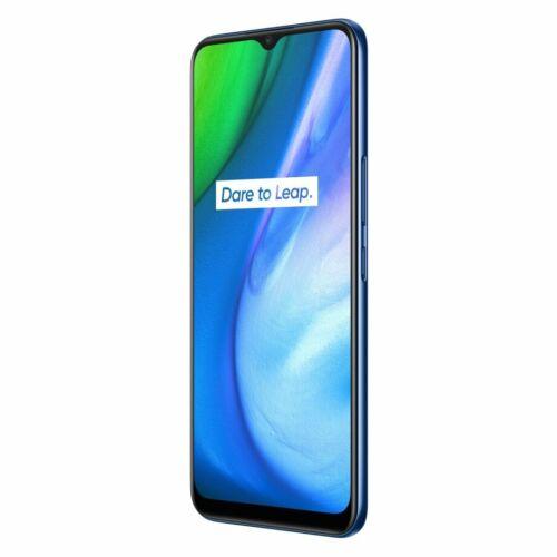EU ECO Raktár - Realme V3 5G  6.5 inch 5000mAh 18W Gyorstöltés  Android 10 6GB RAM 64GB ROM Dimensity 720 13MP Kamera Octa Core Okostelefon - Kék