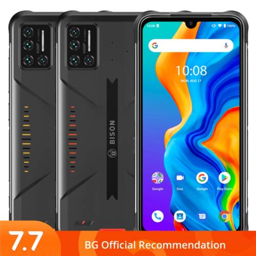 EU ECO Raktár - UMIDIGI BISON IP68 IP69K Vízálló NFC Android 11 5000mAh 8GB RAM 128GB ROM Helio P60 6.3 inch FHD+ 48MP Quad előlapi Kamera 4G Okostelefon - Sárga