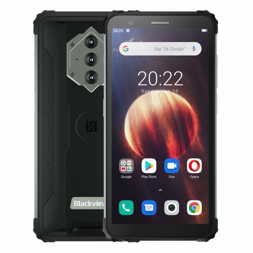 EU ECO Raktár - Blackview BV6600 IP68 IP69K Vízálló 5.7 inch NFC Android 10 8580mAh 4GB RAM 64GB ROM MT6762V 4G Okostelefon - Fekete