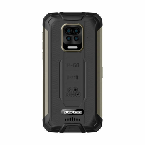 EU ECO Raktár - DOOGEE S59 IP68 Vízálló 5.71 inch HD+ 10050mAh Super Battery NFC Android 10.0 4GB 64GB Helio A25 Octa Core 4G Okostelefon - Narancs